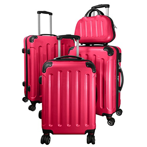 trolley set mauritius 4 teilig darkpink 4 rollen. Black Bedroom Furniture Sets. Home Design Ideas