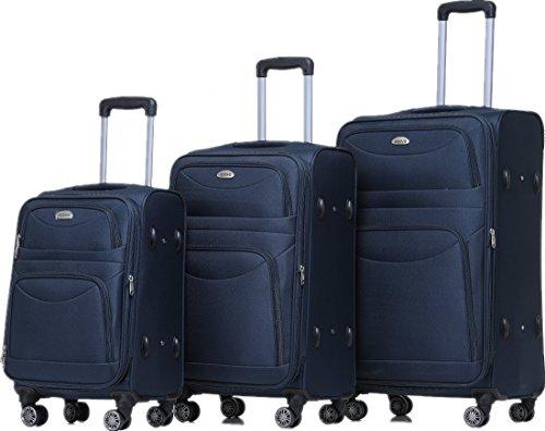 beibye 8009 tsa schlo stoff trolley reisekoffer koffer kofferset gep ckset blau set g nstig. Black Bedroom Furniture Sets. Home Design Ideas