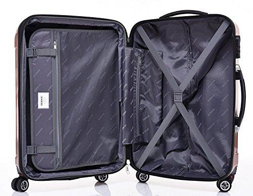 beibye zwillingsrollen 2048 hartschale trolley koffer. Black Bedroom Furniture Sets. Home Design Ideas