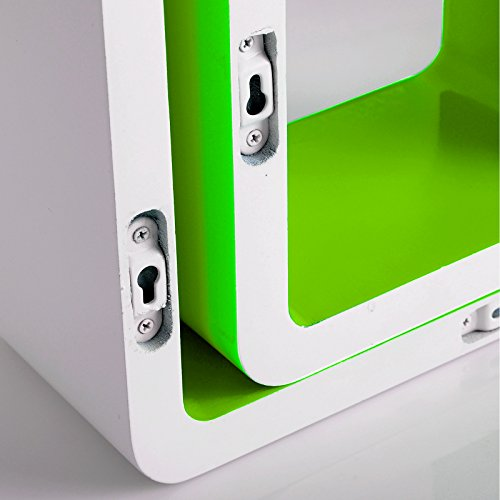 woltu rg9229gn wandregal cube regal 3er set b cherregal regalsysteme retro h ngeregal w rfel. Black Bedroom Furniture Sets. Home Design Ideas