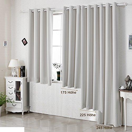 woltu 329 vorhang gardinen blickdicht mit sen 250g m2 schwerer verdunkelungsvorhang. Black Bedroom Furniture Sets. Home Design Ideas