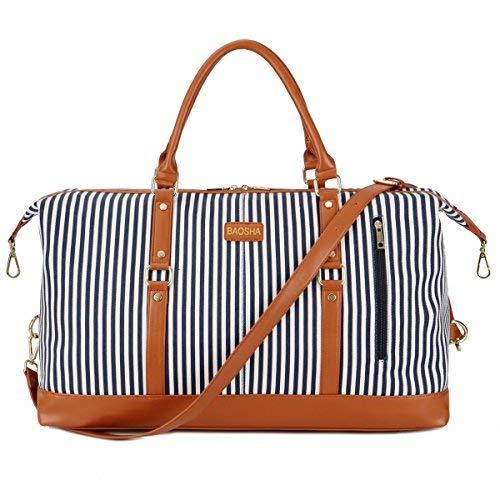f77dd9db4baa5 BAOSHA HB-14 Übergroße Canvas Reisetasche Frauen Damen Travel Duffel Bag  Carry On Bags Segeltuch Handgepäck Weekender Tasche für Kurze Reise am  Wochenend ...