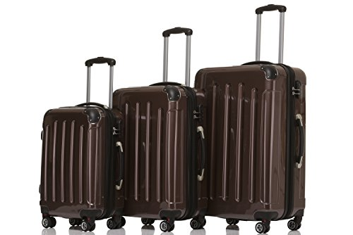 beibye 3er kofferset hartschalen koffer reisekoffer. Black Bedroom Furniture Sets. Home Design Ideas