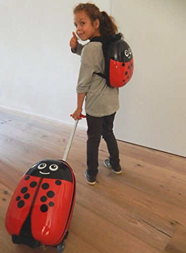ferg 1x kinder trolley 1x rucksack ladybird kinder. Black Bedroom Furniture Sets. Home Design Ideas