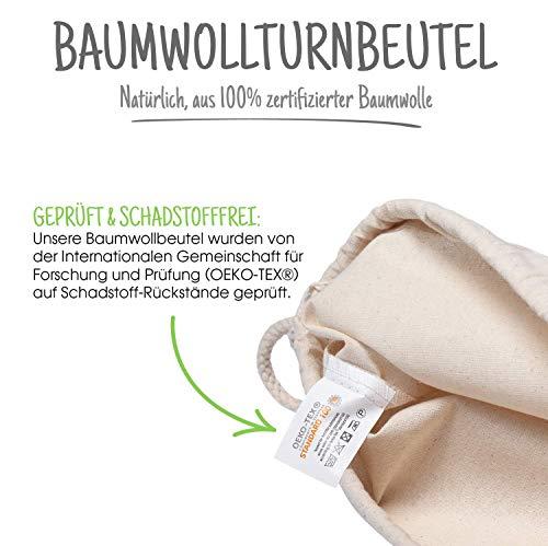 7304e3afbbf02 Baumwollbeutel 10 Stück 38x42cm Natur Sportbeutel - Rucksack ...