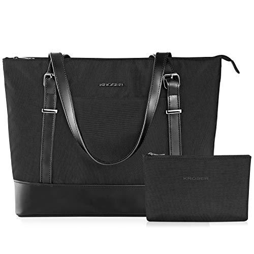 kroser laptop damen handtasche schwarz handtaschen elegant. Black Bedroom Furniture Sets. Home Design Ideas