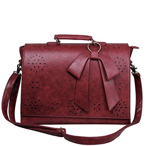 neueste 77dea b5d2e ECOSUSI Vintage Damen Schultasche Arbeitstasche Aktentasche Laptoptasche 14
